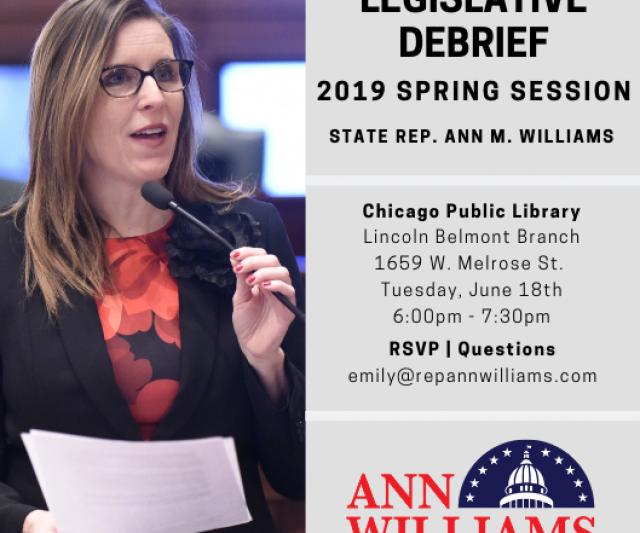 Legislative Debrief: 2019 Spring Session