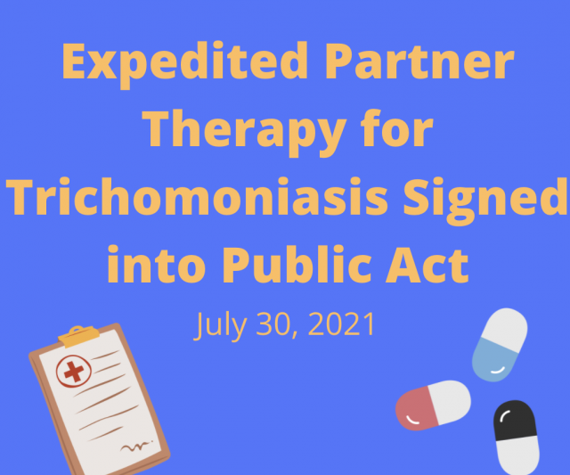Expedited Partner Therapy for Trichomoniasis Signed into Public Act